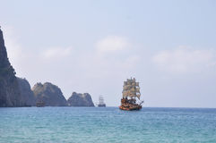 Free Old Sailing Ship In The Ocean Stock Photos - 42426173