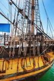 Old sailing ship mast Royalty Free Stock Image
