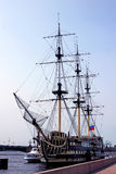 Old sailing ship on the Neva River in St. Petersburg, Russia Stock Photo