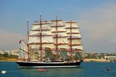 Old sailing ship in the port Royalty Free Stock Images