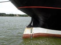 Old sailing ship rudder Stock Photo