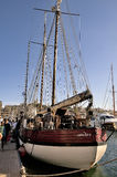 Old sailing ships docked in the old port of Marseille Royalty Free Stock Images
