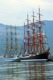 Old sailing ships in the port Royalty Free Stock Photos