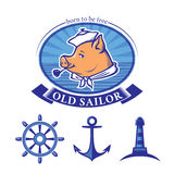Old sailor Royalty Free Stock Images