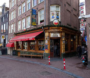 Old sailor pub in amsterdam Royalty Free Stock Photography