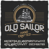 Old Sailor Vintage Label Poster Stock Images