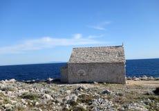 Free Old Saint Ivan Church On Punta Planka Peninsula Near Razanj And Rogoznica, Croatia Royalty Free Stock Images - 184345239