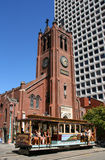 Old saint Mary's cathedral, san francisco. Royalty Free Stock Images