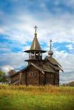 Old Saint Michael wooden church. Wooden church of Saint Michael the Archangel on the Kizhi island stock photos