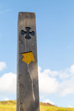 Old saints way sign post Royalty Free Stock Photography