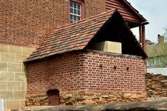 Old Salem, NC: 1800 C. Winkler Bakery Exterior Oven Stock Photos