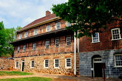 Old Salem, NC: Docent at Single Brother's House Royalty Free Stock Photography