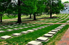 Old Salem, NC: God's Little Acre Burial Ground Royalty Free Stock Image