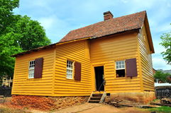 Old Salem, NC:  Log Cabin at 1771 Miksch House Royalty Free Stock Photo