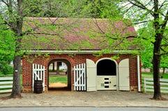Old Salem, NC: Market Fire Engine House Royalty Free Stock Photography