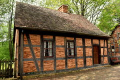 Old Salem, NC: 1768 Moravian Fourth House stock photo