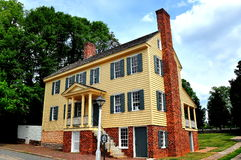 Old Salem, NC: 18th Century Main Street Houses Royalty Free Stock Images