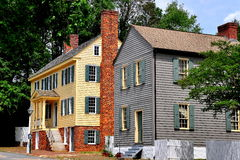Old Salem, NC: 18th Century Main Street Houses Royalty Free Stock Photography