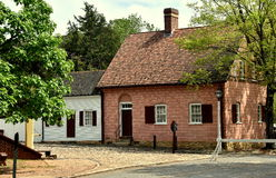 Old Salem, NC: 18th century Moravian Houses Stock Image