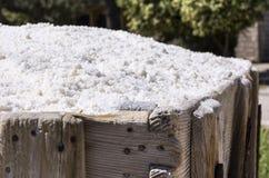 Old Saline, Ston, Croatia, grained salt Stock Photos