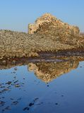 Old salines next to the sea Royalty Free Stock Photo