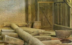 Old salt processing company. Interior of a salt processing company from the 1800's Royalty Free Stock Image