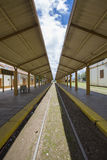 Old Salta train Station with cloudy blue sky, Argentina Stock Photography
