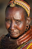 Old Samburu woman in Ngurunit, Kenya. Stock Photography