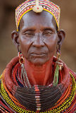 Old Samburu woman in Ngurunit, Kenya. Stock Images