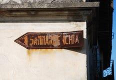 Old Sammardenchia Sign Royalty Free Stock Photography