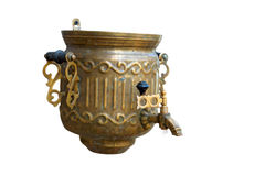Old samovar as the washstand Royalty Free Stock Photography