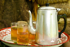 Old samovar  with tea Stock Photography