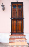 Old San Juan. A doorway in Old San Juan, Puerto Rico stock photography