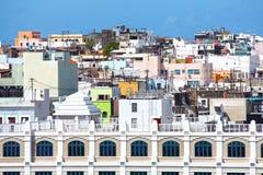 Puerto Rico San Juan. Built up old San Juan facades, Puerto Rico royalty free stock photos