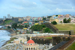 Old San Juan City Skyline, Puerto Rico Stock Image