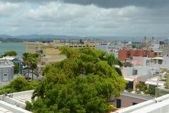 Old San Juan City Skyline, Puerto Rico Stock Photo