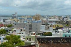 Old San Juan City Skyline, Puerto Rico Royalty Free Stock Photo