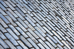 Old San Juan Cobblestone Texture. The famous blue tinted cobblestone lined streets of historic Old San Juan Puerto Rico royalty free stock photography