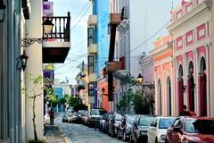 Old San Juan downtown Royalty Free Stock Image