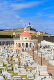 Old San Juan, El Morro fort and Santa Maria Magdalena cemetery, Royalty Free Stock Photography