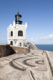 Old San Juan Fort. Fort in old san juan puerto rico ruins old delapidated block lighthouse royalty free stock photo