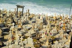 Old San Juan Graveyard by the sea. Horizontal Royalty Free Stock Images