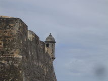 Old San Juan Puerto Rico. Fort Cristobal San Juan Puerto Rico guerite Royalty Free Stock Photo