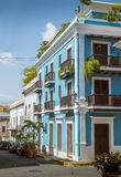 Old San Juan in Puerto Rico. Architecture stock photography
