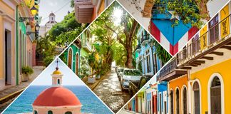 Old San Juan in Puerto Rico stock images