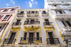 Old San Juan Puerto Rico. Old San Juan, Puerto Rico - March 27, 2015: Image depicts typical architecture seen along the street of Old San Juan, Puerto Rico stock photo