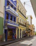 Old San Juan Street. Colorful home in Old San Juan, Puerto Rico stock images