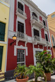 Old San Juan Street. Colorful home in Old San Juan, Puerto Rico stock image