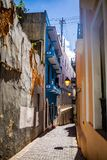 Old San Juan streets in Puerto Rico at day. Tourist royalty free stock photography