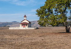 Old San Simeon schoolhouse. At Hearst Memorial State Beach Stock Images